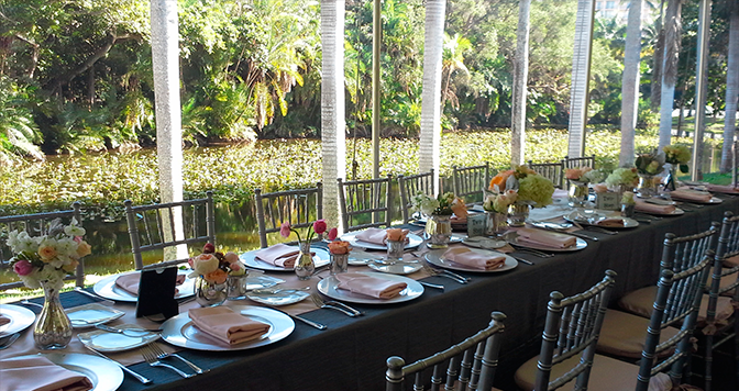 Unforgettable Garden Wedding Decor: Weddings Are Truly Unforgettable At Bonnet House In Fort